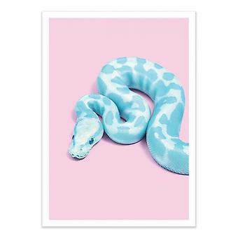 Art-Poster - Blue Snake - Paul Fuentes