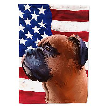 Carolines Treasures  CK6454CHF Boxer Dog American Flag Flag Canvas House Size