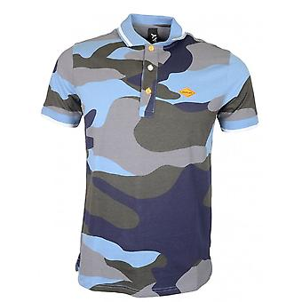 Replay Cotton All Over Camouflage Polo Shirt