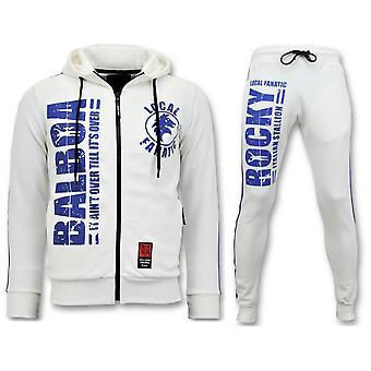 Exclusive Men's Tracksuit - Rocky Balboa Sports Suit - White