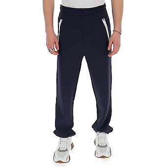 Acne Studios Bk0237navyblue Men's Blue Cotton Joggers