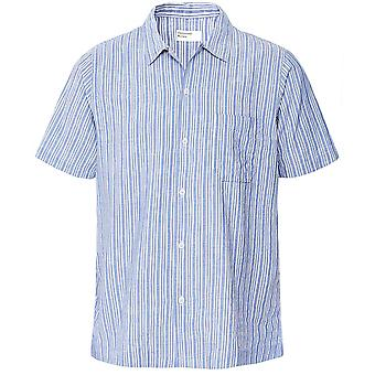 Universal Works Linen Blend Elton Striped Road Shirt