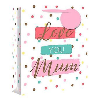 Eurowrap Love You Mum Gift Bags (Pack of 12)