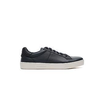 Z Zegna Lhcvoa3069xnav Herren's Blaue Leder Sneakers