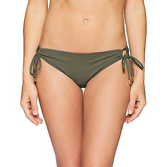 La Blanca Women's Island Goddess Side Loop Hipster Bikini, Olive, Size 4.0