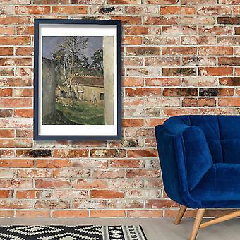 Paul Cezanne - Farmyard Poster Print Giclee