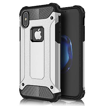 Shell pour Apple iPhone X Silver Hard Armor Protection Case