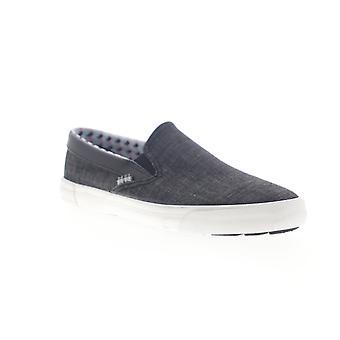 Ben sherman pete slip on miesten musta kangas lifestyle lenkkarit kengät