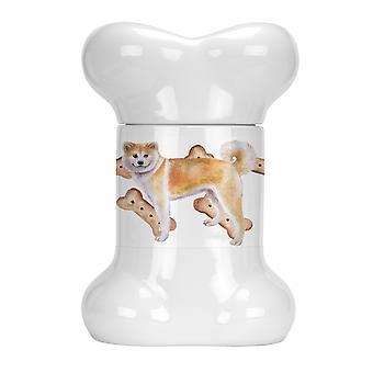 Carolines Trésors CK2258BSTJ Shiba Inu Bone Shaped Treat Jar