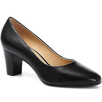 Jones 24-7 Block Heel Leather Court Shoe