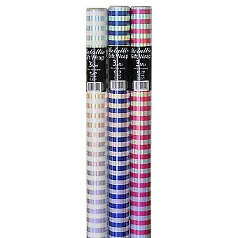 EuroWrap Rainbow Stripe Gift Wraps Rolls (Pack of 36)