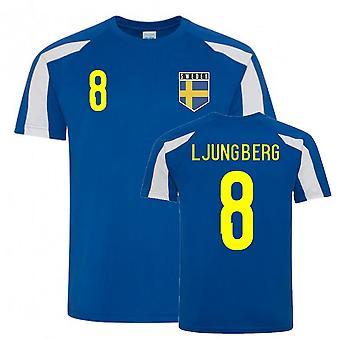 Freddie Ljungberg Sweden Sports Training Jersey (Blue-White)