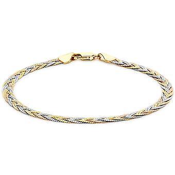 KJ Beckett Plait fiskbensmönstrad Armband - guld/Silver/roséguld