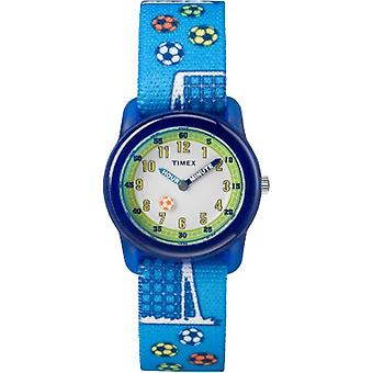 Tw7C16500, Timex Boys Tw7C16500 Time Machines Blue Soccer Elastic Fabric Strap Watch