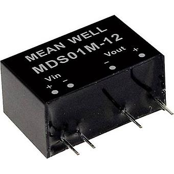 Mean Well MDS01M-15 DC/DC converter (module) 67 mA 1 W No. of outputs: 1 x