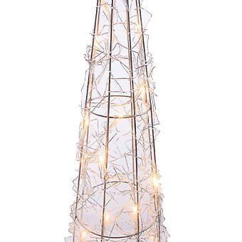 Jandei Boże Narodzenie Dekoracyjne światło różne kształty z bateriami Stożek Led Gold Wire 30cm 20 Led Soczewica 3000K 3X Baterie AA