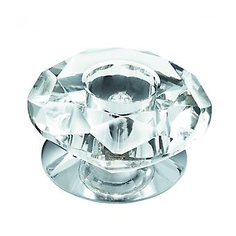 Surface Ceiling Light, In Chrome And Clear Glass