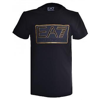 EA7 Boys EA7 Boy's Black T-Shirt