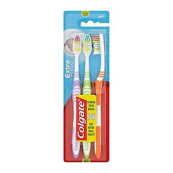 Toothbrush Extra Clean Colgate (3 uds)