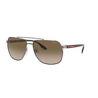 Prada Sport Linea Rossa SPS55V 5AV1X1 Gunmetal/Brown Gradient Sunglasses