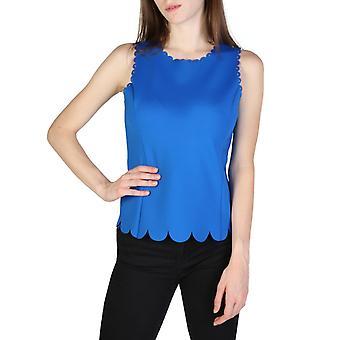 Woman elastane sleeveless top round t-shirt top ae59767