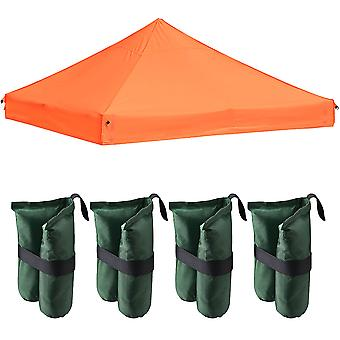 Instahibit 10x10Ft 550D Outdoor Event EZ Pop Up Canopy Replacement CAPI-84 Fabric Tent Top Cover with 4X Weight Sand Bag