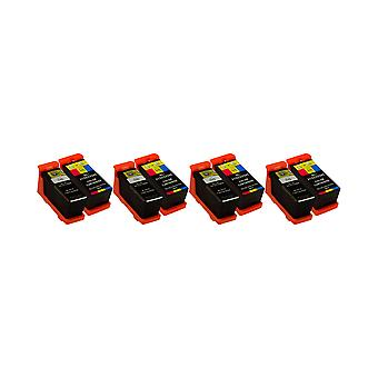 RudyTwos 4x Replacement for Dell X768N X769N Set Ink Unit Black & Tri-Colour Compatible with P513W, V313, V313W, P713W, V715W, V515W