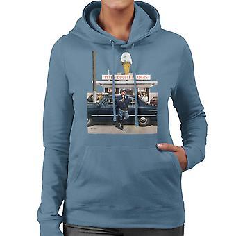De Saturday Evening Post Ice Cream Policeman Women's Hooded Sweatshirt