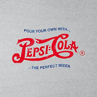 Pepsi Cola 1943 Ahdistunut Logo Pour Your Own Men's Collegepaita