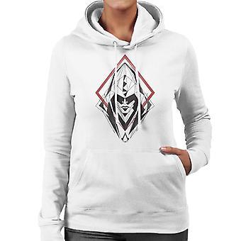 Assassins Creed Hood Line Çizim Siluet Kadınlar's Kapüşonlu Sweatshirt