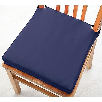 Changing Sofas Navy Blue Cotton Twill Dining Chair Seat Pad Cushion, Pack of 2