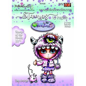 Polkadoodles Little Monsters Clear Stamp Ivy Onesie