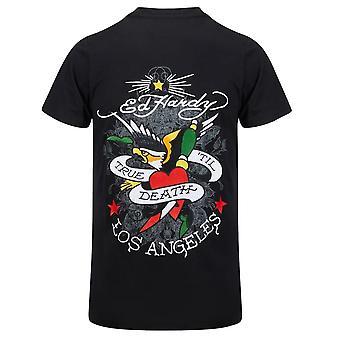 Ed Hardy   Till Death Logo Half Sleeve T-shirt
