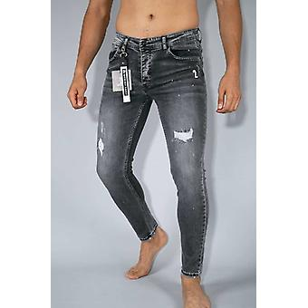 Worn Jeans - Jeans - Grey