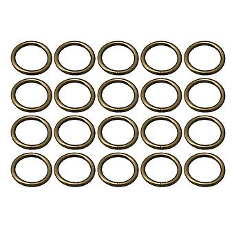 20pcs Bronze Metal Ring Retentor Bolsa bolsa bolsa 2.5cm