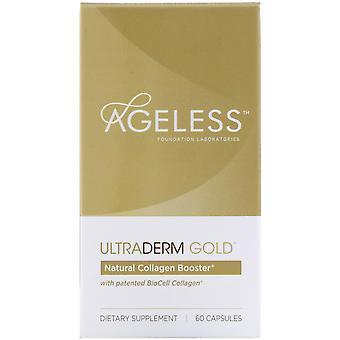 Laboratorios ageless Foundation, UltraDerm Gold, Natural Collagen Booster con P