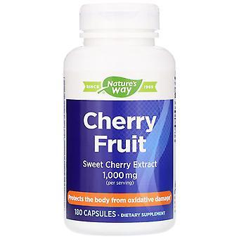 Nature's Way, Körsbärsfrukt, Söt Körsbärsextrakt, 1 000 mg, 180 Kapslar
