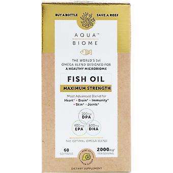 Enzymedica, Aqua Biome, Fish Oil, Maximum Strength, Lemon Flavor, 2,000 mg, 60 S