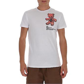 Philipp Plein F20cmtk4583pjy002n01 Heren's Wit Katoen T-shirt
