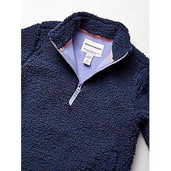Essentials Toddler Girl's Polar Fleece Lined Sherpa Quarter-Zip Jacket...
