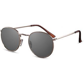 Sunglasses Unisex round gold/black (CWI2154)