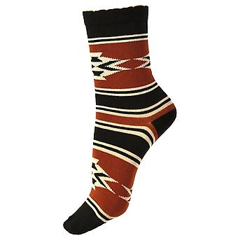 Womenăs Casual Cotton Pattern Printed Over Ankle Socks 4-6 Uk