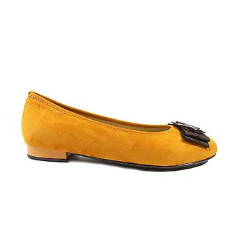 Ara Pisa 63361-79 Yellow Womens Slip On Ballerina Pump Shoes