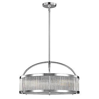 6 licht ronde plafondhanger Licht Chrome IP44, G9