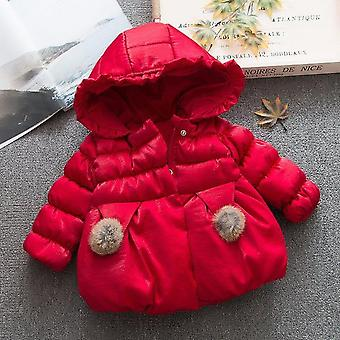 Winter Baby, Bow Cotton -padded Hooded  Jacket