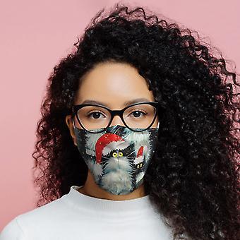 كيم Haskins عيد الميلاد القطط التي يمكن إعادة استخدامها تغطية الوجه -- كبيرة