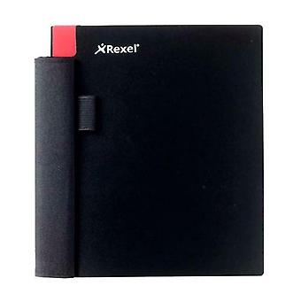 Rexel Notebook Colour Coded Corner Tabs Pocket Notebook - 180 x 162mm - Black