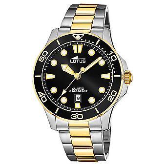 Lotus Men's Two-Tone Stainless Steel Bracelet | Black Dial L18760/2 Watch