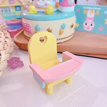 Cute Cartoon Wooden Doll House Accessories-mini Furniture Set