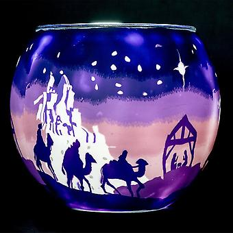Milford Collection Holy Night Glass Tea-light Holder